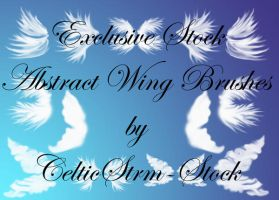 Exclusive Stock Fairy Wing Brushes by CelticStrm-Stock