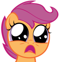 You scared Scootaloo by Magister39