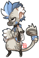 #64 Bagbean - Striped hyena by griffsnuff