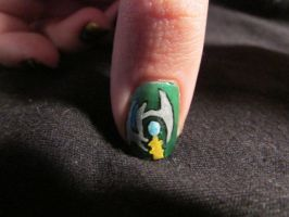 Loki Scepter Nail Close Up by QueenAliceOfAwesome
