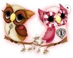 So In Love Hooties - Valentines Owls by concettasdesigns
