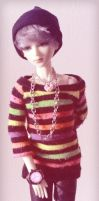 Hipster rainbow sweater by miesmud