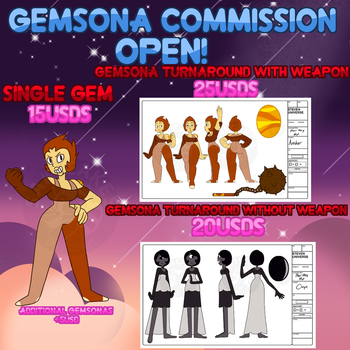 Gemsona Commissions Open by SakiCakes