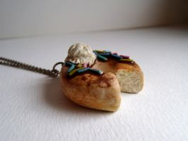 Donut necklace by curry-brocoli