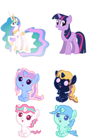 Celestia x Twilight Adopts! OPEN by SnowingRoses