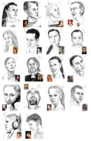 100 faces - 23-40 by StefanieOdendahl