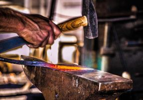 In the Blacksmiths Shop by StephGabler