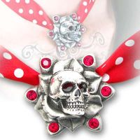 Skull Rose Pendant by Alchemy Gothic by nemesisnow23