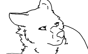 Free Wolf Lineart by Angelwolf778