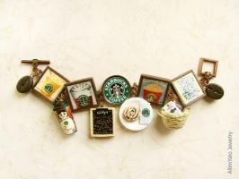 Starbucks bracelet by allim-lip