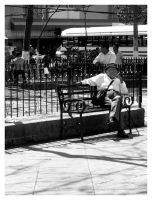 Old Man in Downtown by vicexversa