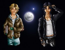 Moony and Padfoot by Dailan