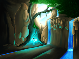 Cave Concept art by TurrKoise