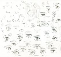 OCs + OS-tans: feature doodles by BellaCielo