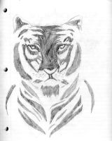 Tiger doodling in class by tigernose123