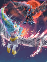 MLP : battle of the sisters by AquaGalaxy