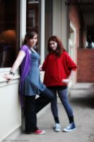 Amy Pond and Donna Noble by HelenaTears