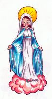 Virgin Mary by after-the-funeral