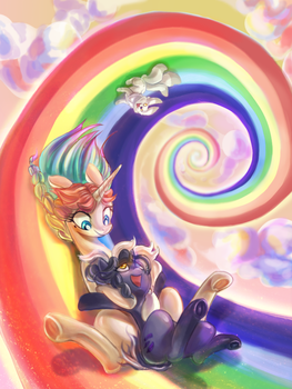 Rainbow Slide (1st commision) by RanhKinh