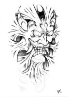 Hannya inside -Shadow- by dfmurcia