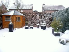 Snowy back garden 1 by BMFMhero1991