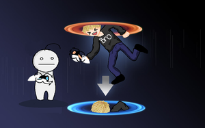 PewdieCry: Fun With Portals by XxCrimsyxX