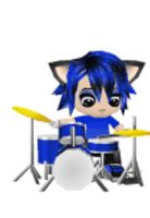 Chibi Me plays drums by SuperSonicGirl79135