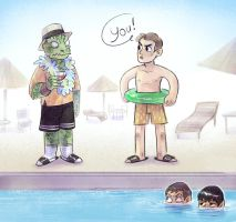 Gorn still on vaccation by Kethavel