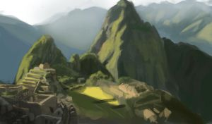 Machu Pichu photo study by piercedraws