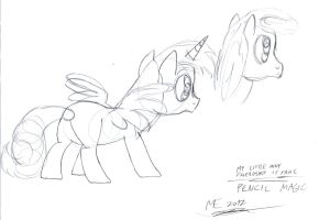 MLP:FiM - Pencil Magic - sketch. 8 by MortenEng21