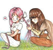 Contest - Bodil and Greta by Strawberry-lick
