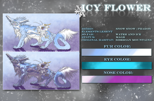 .:Icy Flower Ref-Sheet:. by WhiteSpiritWolf