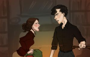 30DOTP-Sherlolly-Day23-Arguing by lexieken