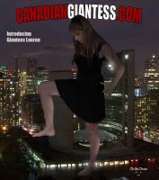 Giantess Lauren At Night by GiantessFantasy