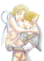 Link and Ilia redrawn after 7 years by Kathisofy