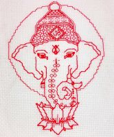 Ganesh - redwork embroidery by Craftypodes