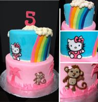 Hello Kitty Monkey Cake by Keep-It-Sweet