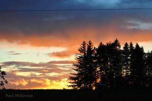 Autumnal Sunset II by PaulMcKinnon