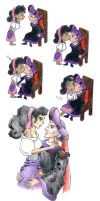 First Lesson - Frollo and Esmeralda by traces-on-a-page