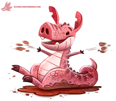 Daily Paint #1145. Jurassic Pork by Cryptid-Creations