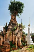 Shwe  Indein Stupa 2 by CitizenFresh