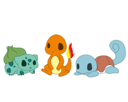 little kanto starters by 3D-BITES