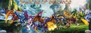 Skylanders Dragons Facebook Cover by txwhitewolf