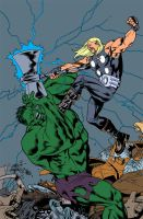 Thor VS Hulk FLATS by RyanLord