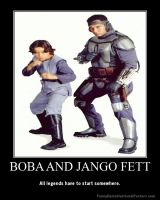 Boba and Jango Fett by Onikage108