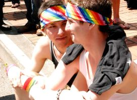 Gay Pride Couple by freckledgirl