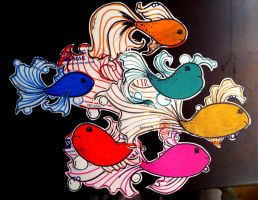 sticker fish by darcydoll