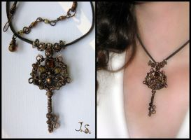 Key pendant by JSjewelry