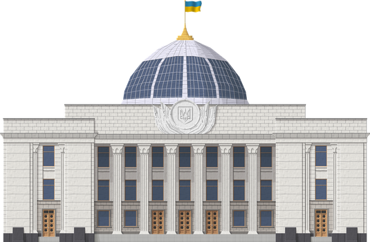 Ukraine Parliament Building by Herbertrocha