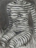 Model in Stripes by Art-of-Eric-Wayne